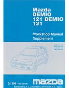 Mazda 121 (DW) 02/1999 Factory Workshop Manual Supplement - Front Cover