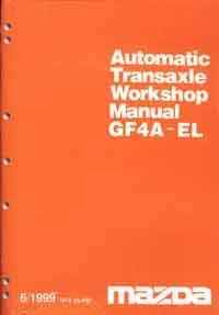 Mazda GF4A-EL Automatic Transmission Factory Workshop Manual Supplement