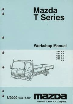 Mazda T Series 06/2000 onwards Factory Workshop Manual - Front Cover
