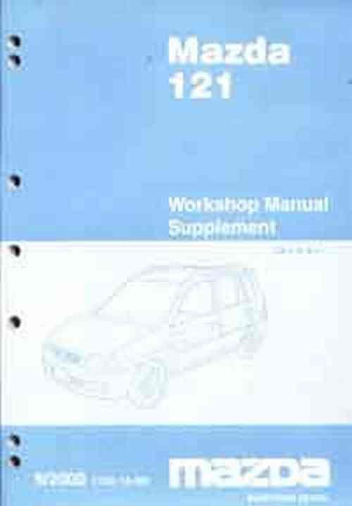 Mazda 121 (DW) 2000 Factory Workshop Manual Supplement - Front Cover