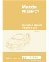 Mazda Premacy 01/2001 Factory Workshop Manual : 2 Volume Set