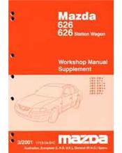 Mazda 626 GF 03/2001 Station Wagon Factory Workshop Manual Supplement