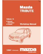 Mazda Tribute 01/2001 Factory Repair Manual : Volume 1