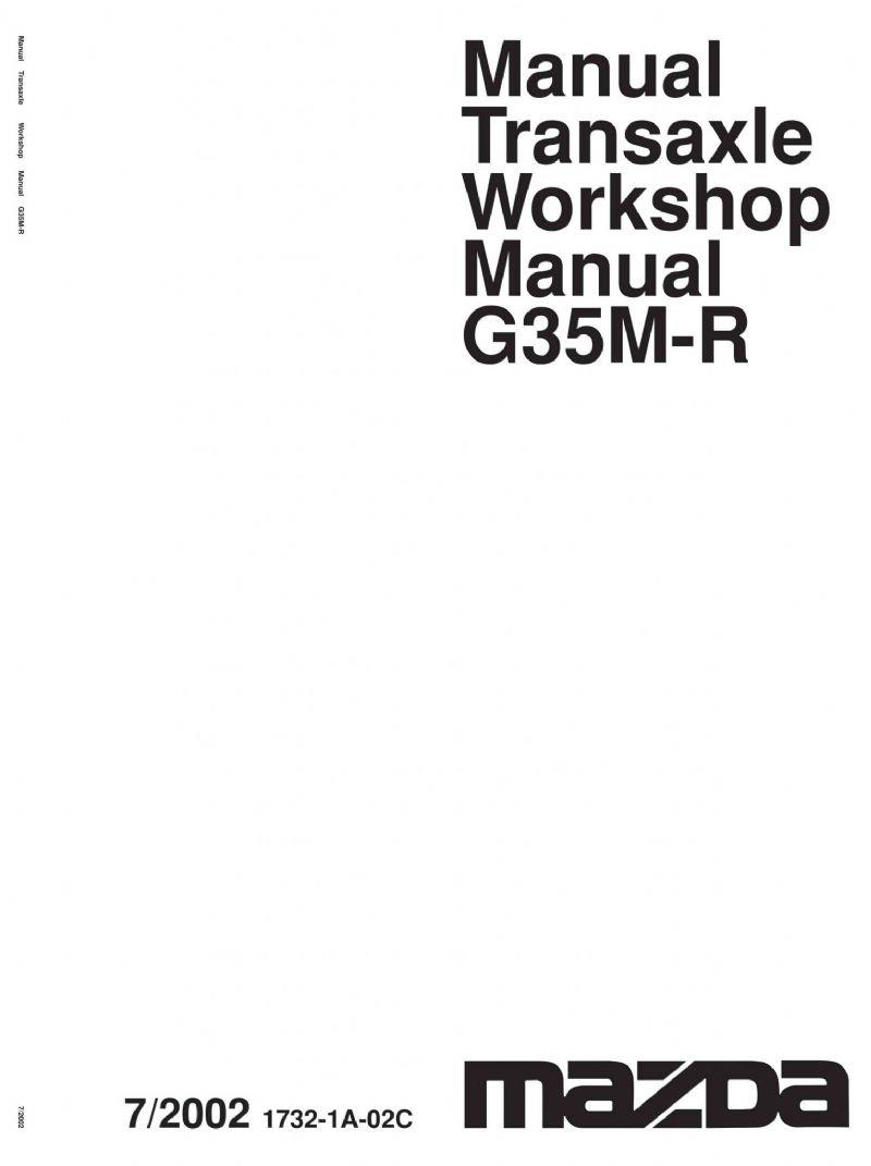 Mazda6 G35M-R Transmission 03/2002 Factory Workshop Manual Supplement - Front Cover