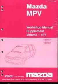 Mazda MPV LW 04/2002 Factory Workshop Repair Manual : 3 Volume Set