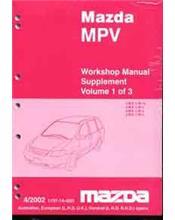 Mazda MPV LW 04/2002 Factory Workshop Repair Manual : 3 Volume Set
