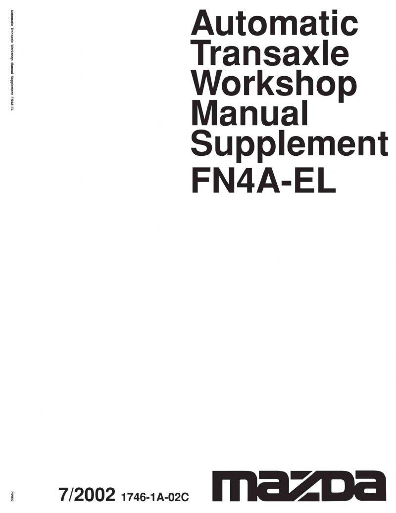 Mazda6 03/2002 Automatic Transmission Factory Workshop Manual Supplement - Front Cover