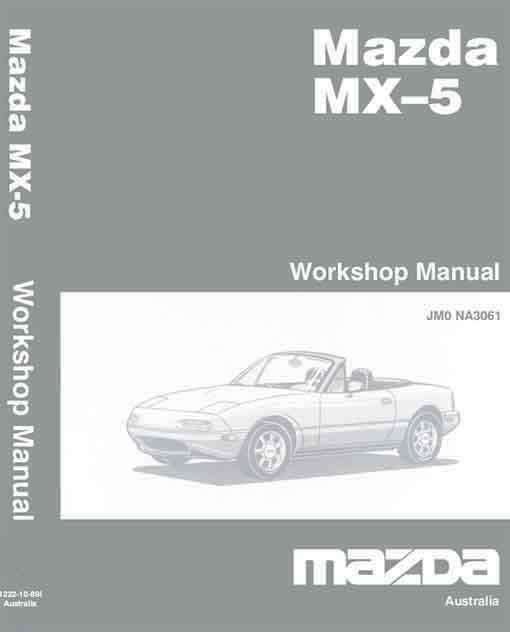 Mazda MX-5 NB 08/2002 Factory Workshop Manual Supplement - Front Cover