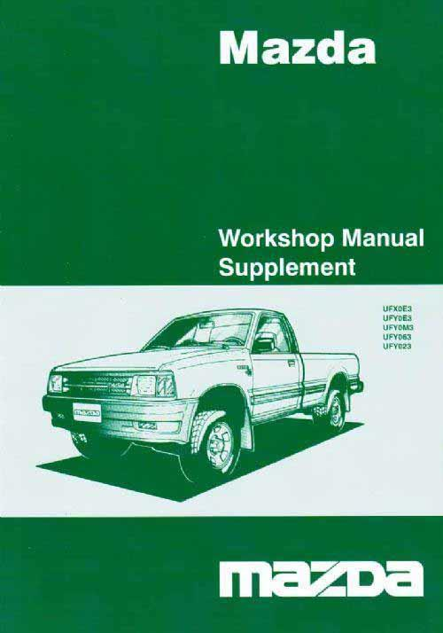 Mazda B Series 11/2003 Fuel & Emission Factory Workshop Manual Supplement - Front Cover