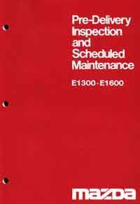 Mazda E Series 05/1978 Pre-Delivery & Maintenance - Front Cover
