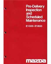 Mazda E Series 05/1978 Pre-Delivery & Maintenance