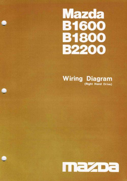 Mazda B Series Wiring Diagrams 09/1981 Factory Manual Supplement