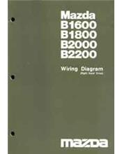 Mazda B Series 10/1982 Wiring Diagram Factory Manual Supplement