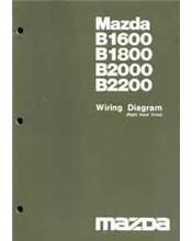 Mazda B Series 10/1982 Wiring Diagram Factory Manual Supplement