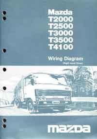 Mazda T Series 03/1984 T2000, T2500, T3 Factory Wiring Diagram Manual Supplement - Front Cover