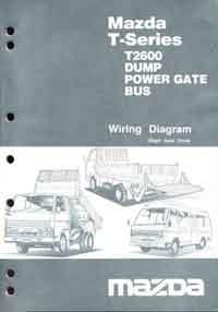 Mazda T Series 11/1984 Wiring Diagrams Factory Manual Supplement - Front Cover