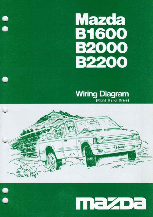 Mazda B Series Wiring Diagrams Petrol & Diesel 02/1985 Factory Manual Supplement