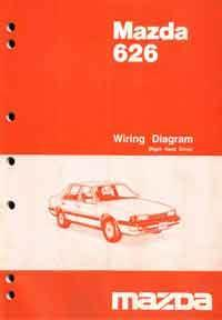 Mazda 626 GC Wiring Diagrams 07/1985 Factory Manual Supplement