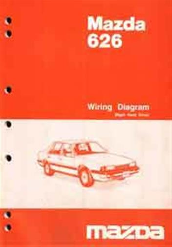 Mazda 626 GC Wiring Diagrams 07/1985 Factory Manual Supplement - Front Cover