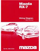 Mazda RX-7 (FC) Wiring Diagram 10/1985 Factory Manual Supplement - Front Cover