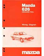 Mazda 626 GC Wiring Diagrams 10/1985 Factory Manual Supplement