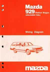 Mazda 929 10/1985 Station Wagon Factory Wiring Diagram Manual - Front Cover