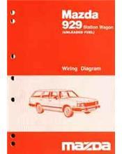 Mazda 929 10/1985 Station Wagon Factory Wiring Diagram Manual