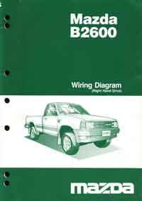 Mazda B2600 02/1986 4X4 Factory Wiring Diagram Manual Supplement - Front Cover