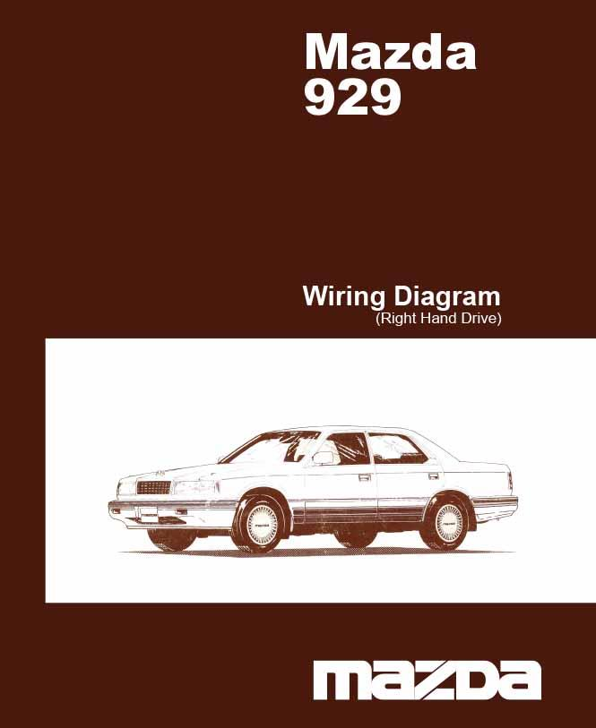 Mazda 929 HC 02/1987 Factory Wiring Diagram Manual Supplement - Front Cover