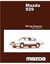 Mazda 929 HC 02/1987 Factory Wiring Diagram Manual Supplement