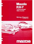 Mazda RX-7 (FC) Wiring Diagram 10/1986 Factory Manual Supplement - Front Cover