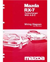 Mazda RX-7 (FC) Wiring Diagram 10/1986 Factory Manual Supplement