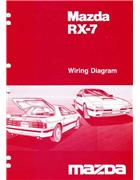 Mazda RX-7 (FC) Wiring Diagram 02/1987 Factory Manual Supplement - Front Cover