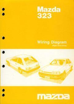 Mazda 323 BF Series 05/1987 on Factory Wiring Diagram Manual Supplement