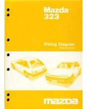 Mazda 323 BF Series Wiring Diagrams 05/1987 on Factory Manual Supplement