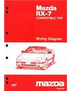 Mazda RX-7 (FC) Wiring Diagrams 08/1987 Factory Manual Supplement - Front Cover