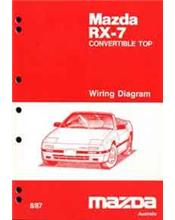 Mazda RX-7 (FC) Wiring Diagrams 08/1987 Factory Manual Supplement