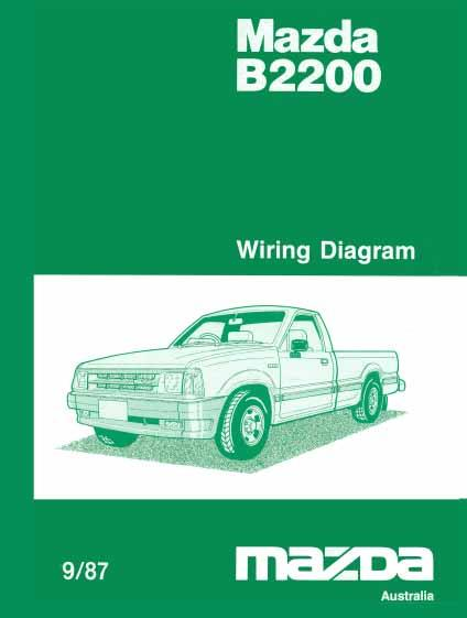 Mazda B2200 09/1987 Factory Wiring Diagram Manual Supplement - Front Cover