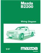 Mazda B2200 Wiring Diagrams 09/1987 Factory Manual Supplement - Front Cover