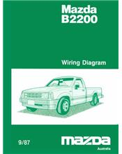 Mazda B2200 Wiring Diagrams 09/1987 Factory Manual Supplement