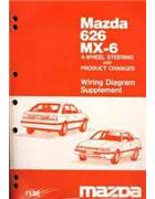 Mazda 626 & MX6 GD Wiring Diagram 11/1988 Factory Manual Supplement - Front Cover