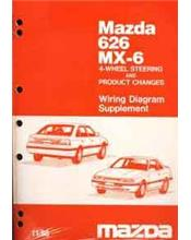 Mazda 626 & MX6 GD Wiring Diagram 11/1988 Factory Manual Supplement