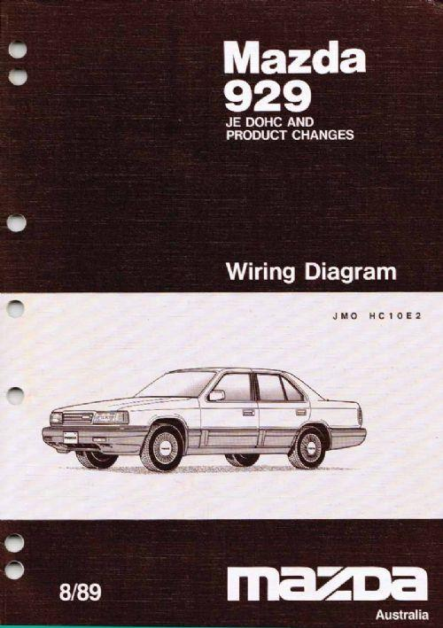 Mazda 929 HC 08/1989 Factory Wiring Diagram Manual Supplement - Front Cover