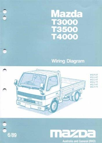 mazda t series (wg) 06/1989 wiring diagrams factory manual supplement -  front