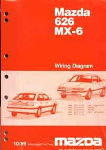Mazda 626 & MX6 GD Wiring Diagrams 10/1989 Factory Manual Supplement - Front Cover