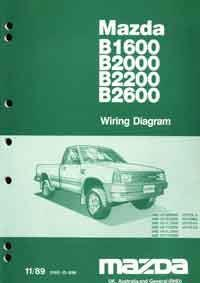 Mazda B Series 11/1989 Factory Wiring Diagram Manual Supplement - Front Cover