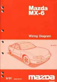 Mazda 626 & MX6 GD Wiring Diagrams 09/1991 Factory Manual Supplement