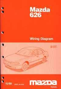 Mazda 626 & MX6 GE Wiring Diagrams 11/1991 on Factory Supplement