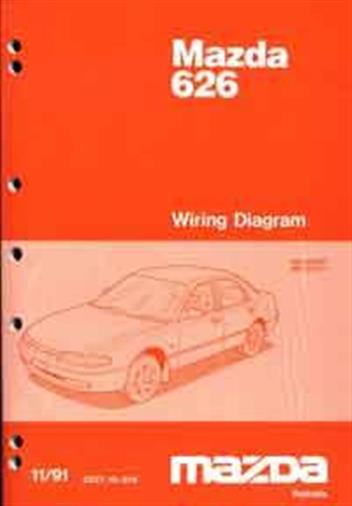 Mazda 626 & MX6 GE Wiring Diagrams 11/1991 on Factory Supplement - Front Cover