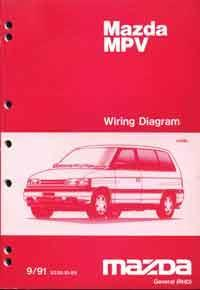 Mazda MPV LV 09/1991 Factory Wiring Diagram Manual Supplement - Front Cover